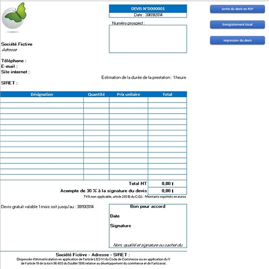 Modele facture type document online for Modele facture garage automobile excel