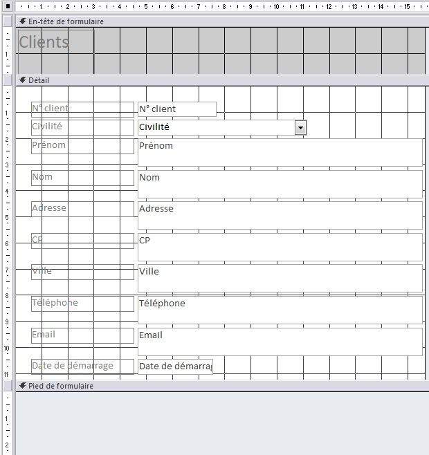 Mise en forme du formulaire