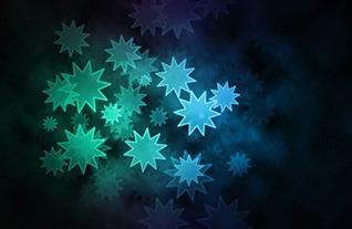 Exemple d'effet Bokeh d'étoiles à plusieurs branches