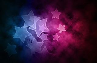 Exemple d'effet Bokeh d'étoiles