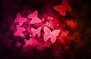 Exemple d'effet Bokeh de papillons