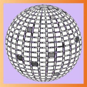 Boule disco créée sur Illustrator