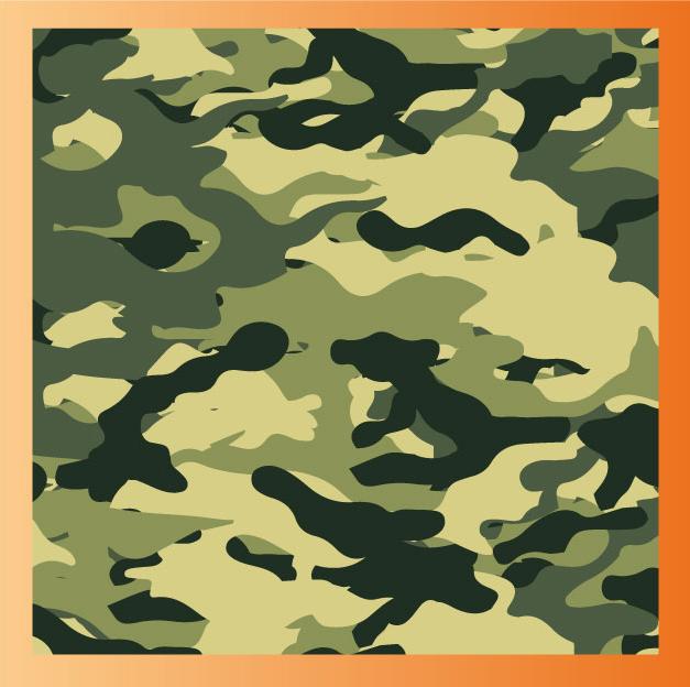 Camouflage créé sur Illustrator
