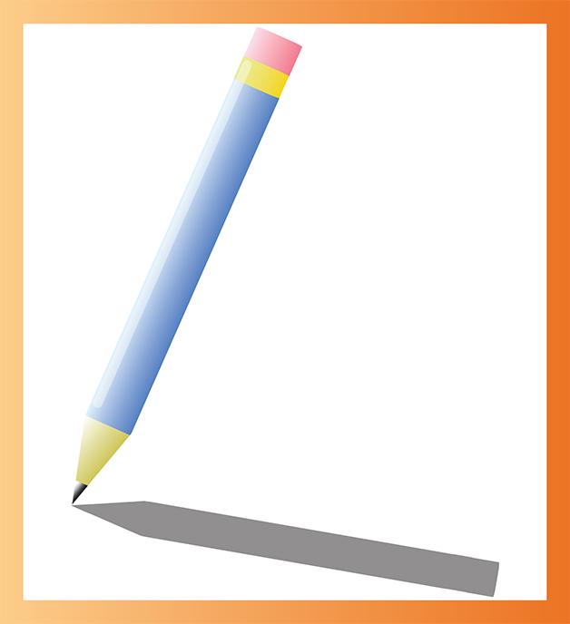 Crayon créé sur Illustrator