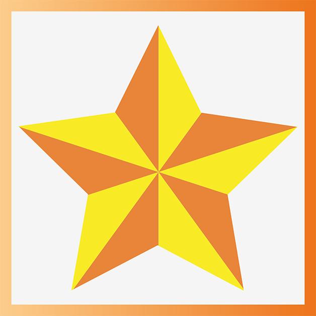Étoile en relief créée sur Illustrator
