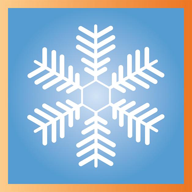 Flocon de neige créé sur Illustrator