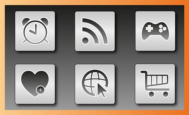 Icônes web créées sur Illustrator