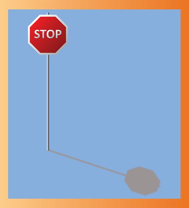 Panneau stop créé sur Illustrator