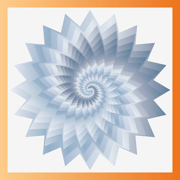 Spirale de couleurs créée sur Illustrator