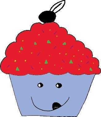 Exemple de cupcake coloré