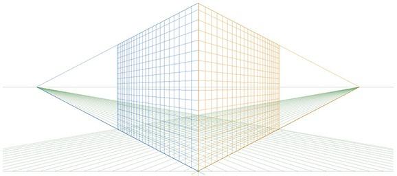 Aperçu de la grille de perspective sur Illustrator