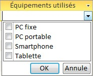 Exemple de liste déroulante à choix multiple