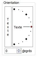 Fenêtre Orientation de texte