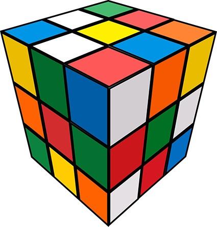 Exemple de Rubik's Cube créé avec Illustrator