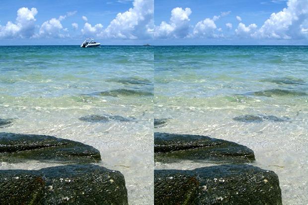 Exemple de suppression de bateau sur Photoshop