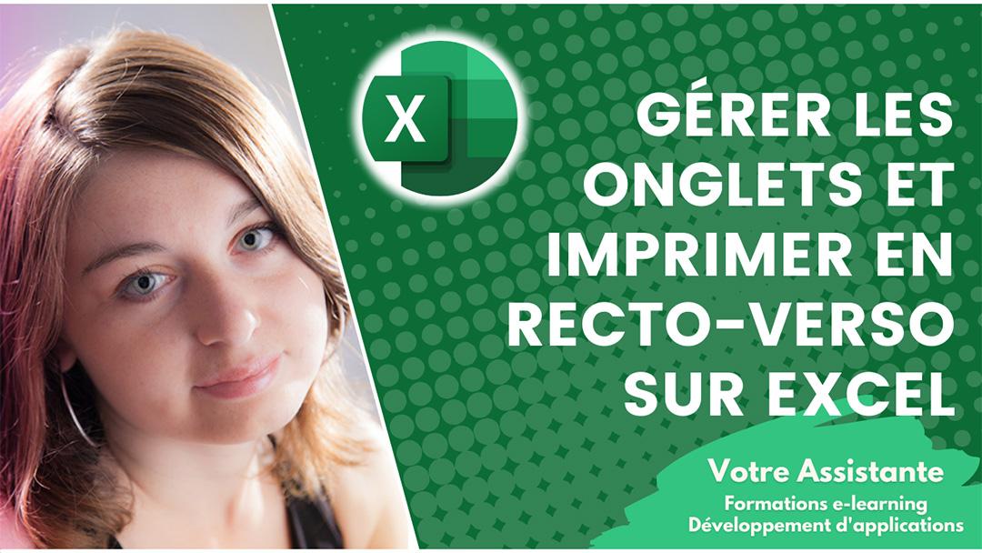 Gérer les onglets Excel et imprimer un classeur en recto-verso