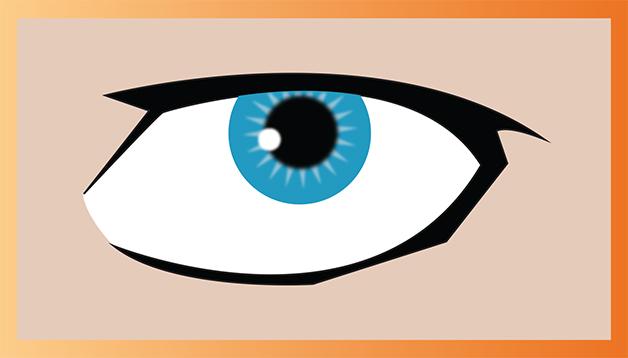 Oeil créé sur Illustrator