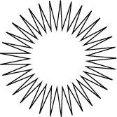 Exemple d'étoile à plusieurs branches sur Illustrator