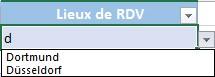 Exemple de liste déroulante Excel semi-automatique