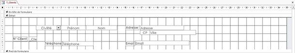 Mise en forme du formulaire clients sans bouton