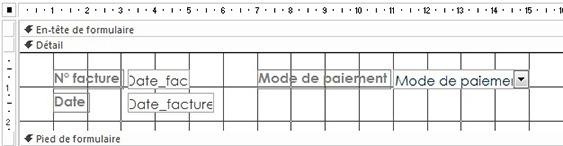 Mise en forme de la présentation du formulaire Date_facture