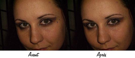 Exemple de correction des imperfections avec le Remplissage d'après le contenu
