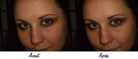 Exemple de correction des imperfections avec l'Outil pièce