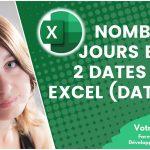 Calculer le nombre de jours entre deux dates avec Excel (formule datedif)