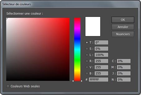 Fenêtre Sélecteur de couleurs