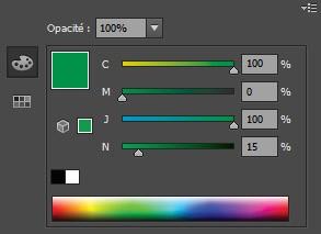 Fenêtre pour les couleurs CMJN