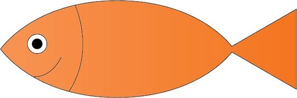 Résultat de la création du poisson sur Illustrator