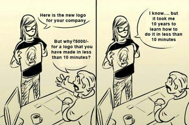 Comic à propos des tarifs d'un graphiste