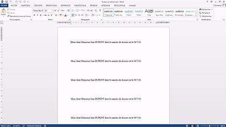 Tutoriel Insérer un même mot à plusieurs endroits dans un document Word