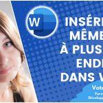 Insérer un même mot à plusieurs endroits dans un document Word