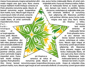 Habillage de texte avec Illustrator CS6