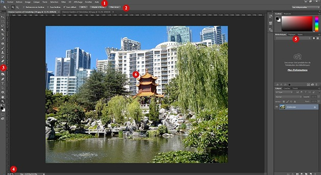 Interface de Photoshop