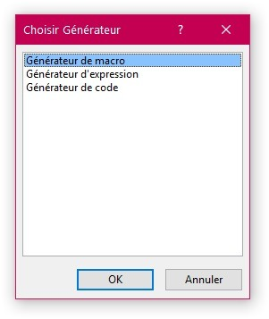choisir generateur access