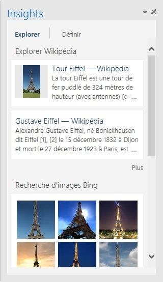 Fenêtre de recherche dans Bing sans quitter Outlook