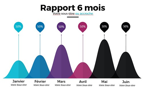 Modèle d'infographie Ultime PowerPoint pour un rapport 6 mois