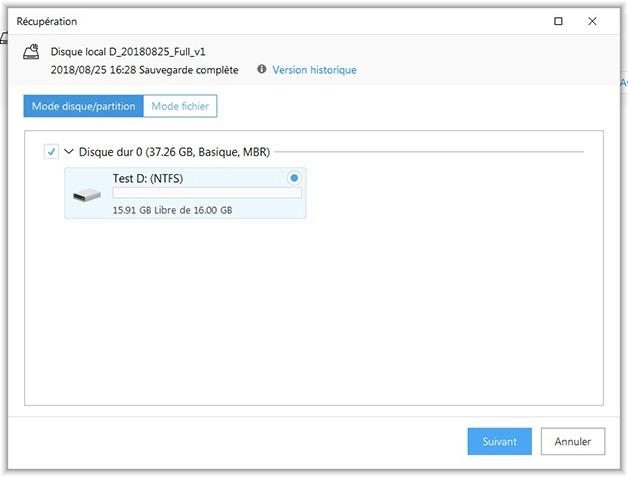 Récupération d'une partition avec Todo Backup Free