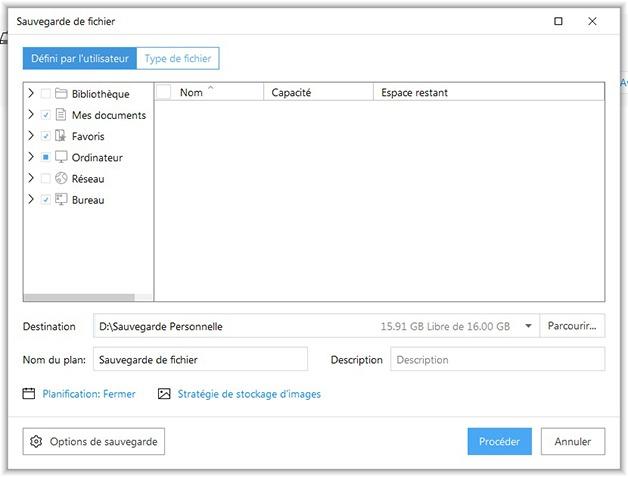 Sauvegarde de fichiers avec Todo Backup Free