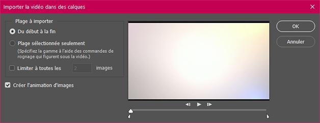 Importer la vidéo dans des calques