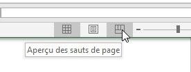 Aperçu des sauts de page Excel