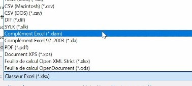 Enregistrer un complément Excel