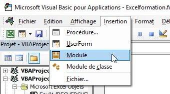 Créer un module Excel