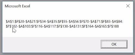 Msgbox Excel avec adresses des cellules modifiées