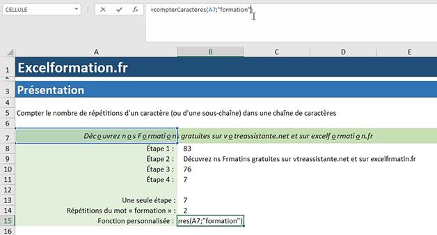 Arguments d'une fonction personnalisée Excel VBA