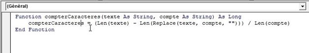 Créer une fonction personnalisée sur Excel en VBA