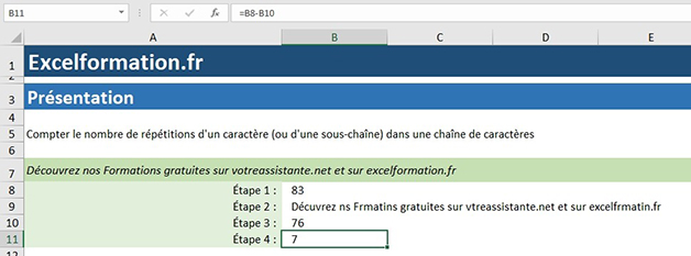 Soustraction sur Excel