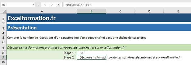Substitue sur Excel